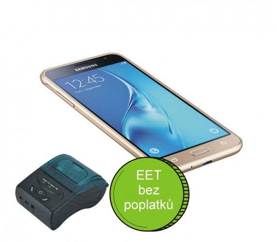 Chytrý mobilní telefon (vlastní) + mobilní tiskárna + SW- Profi účtenka pro 3 a 4 vlnu EET